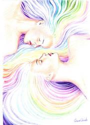 rainbow twin flames by CORinAZONe