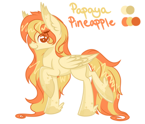 .:Adopt:. Ice Cream Flavor- Papaya Pineapple by Blocksy-Art