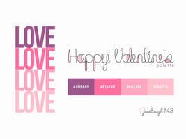 Valentine's Day Palette by JustLaugh143