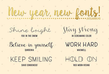 2016 My new fonts :] by JustLaugh143