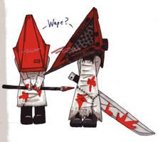 Baby Pyramid Head says..... by Eddie-chan