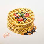 Delicious waffle by Eif-ka