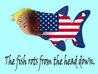 The fish rots from the head down. by Dystopia-Maxima