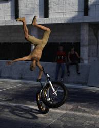 Artist on Bike by Philopp