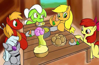 Apple Family Dinner (plus 1!) by Maruraba