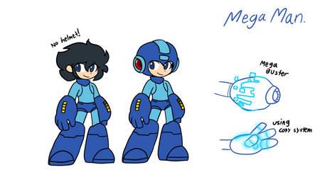 Mega Man Supreme - Mega Man (Final Final design.) by Techno-the-cyborg