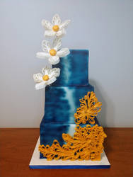 Quilled Wedding Cake by cake-engineering
