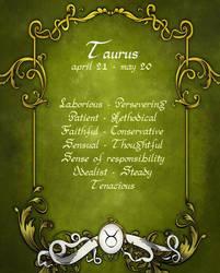Taurus : april 21 - may 20 by M3Gane