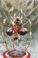 Civil War Iron Spiderman by llewelca912