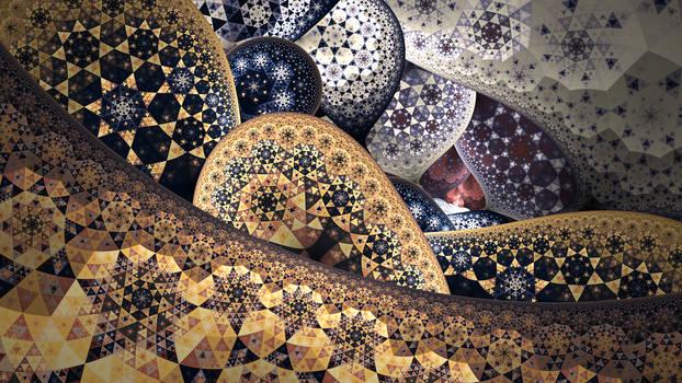 Starry Sierpinskies by teundenouden