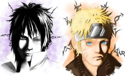 Naruto and sasuke by ehteshamhaider