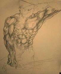 figure drawing by aaryankhakan