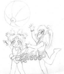 MKD Sasami and Hotaru - Tsunami and Bloom-chan by Kitti606