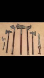 Homemade Dwarf weapons by Fahfred