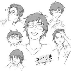 Yuuri!!! with long(er) hair by yu-oka