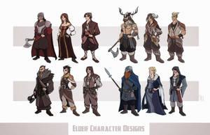 Eldeif Character Designs Part 2 by Tigerhawk01