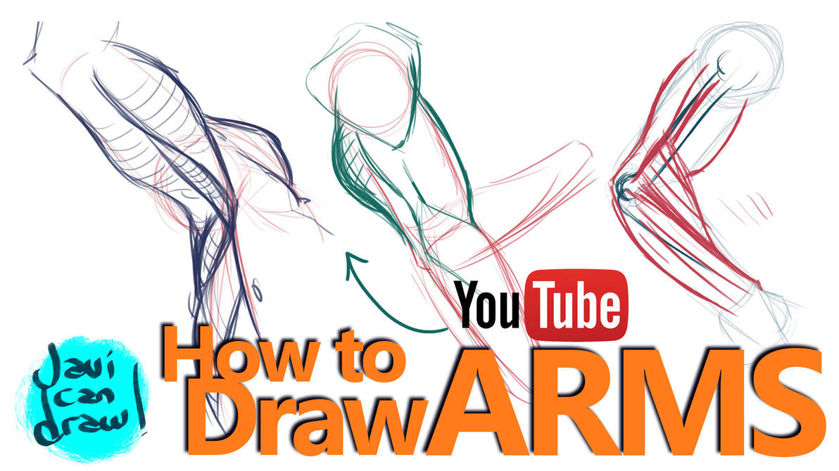 HOW TO DRAW ARMS - A YouTube Tutorial by javicandraw