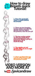 HOW TO DRAW BREASTS by javicandraw