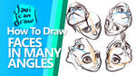 HOW TO DRAW FACES IN ALL ANGLES - On Youtube by javicandraw