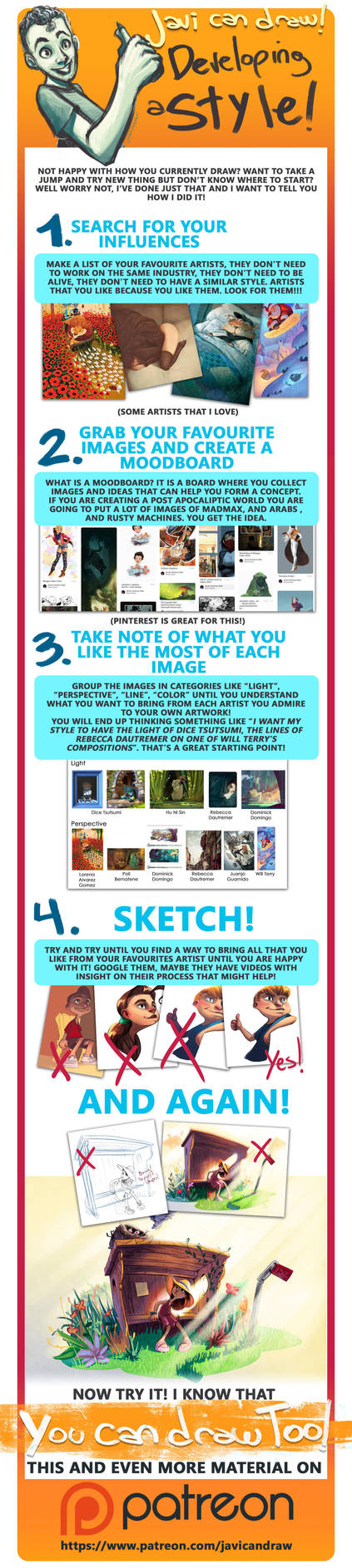 How to develop your own art style by javicandraw