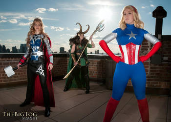 Lady Avengers Take Manhattan by JustBetsyCostumes