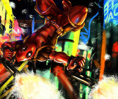 Deadpool - City Streets by ZazzyCreates