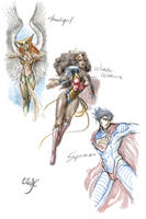 DC Sketch Redesigns by CicisArtandStuff
