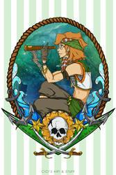 Voltron Pirate AU - Pidge (Sailing Master) by CicisArtandStuff