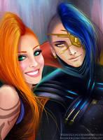 Odyssey Jinx and Kayn by yarahaddad