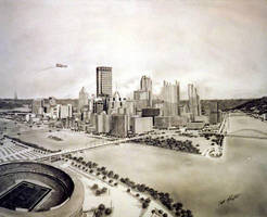 Pittsburgh Skyline by tbonematrix