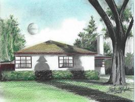 George Lucas' childhood home (color) by tbonematrix