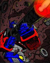 Optimus Prime ion blast by DCSPARTAN117