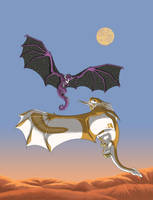 Fantasy Xchange - Dragons at Dawn by Shadow-and-Flame-86