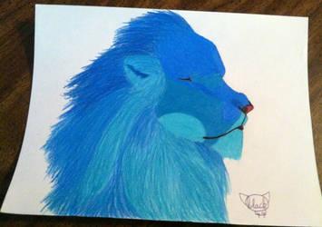 Blue lion by tigerstar44