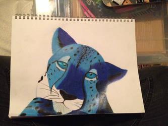 blue cheetah by tigerstar44