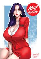 Milf Stewardness manga cover by ScarlettAnn1028