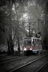 Sad tramway by Erfea