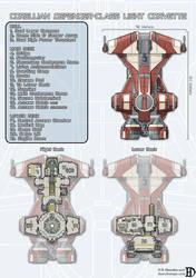 Corellian Defender-Class Light Corvette by DanielHasenbos