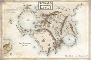 Torvald and Surrounding Lands by DanielHasenbos