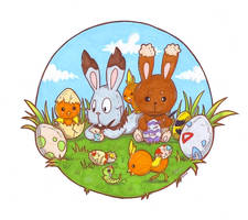Pokemon Easter - doodle by etrii