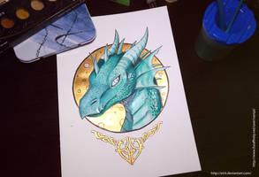 Dragoness portrait by etrii