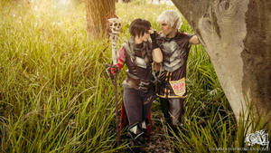 Hawke and Fenris - Dragon Age 2 cosplay by Soylent-cosplay