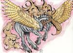 Dark Pegasus Zubo Nocturnus by Almalphia