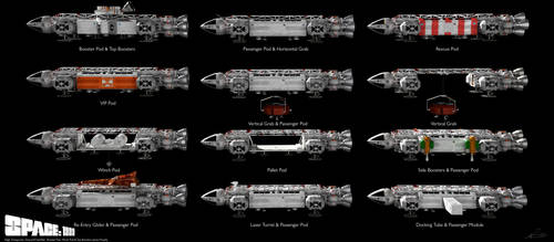 Space: 1999 - Eagle Types (Updated) by Tenement01