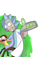 Come on Moo*URRRP*oorty   Rick And Morty Fan-Art by CorytheC