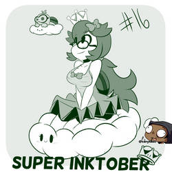Super Inktober - Lakituette!!!! by CorytheC