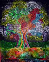 Rainbow Swirl Tree by HGCreations