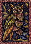 Earthtone Owl (FOR SALE) by HGCreations