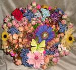 Flower Garden Basket Diorama by HGCreations