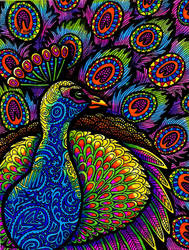 Colors of the Peacock (frameless) by HGCreations